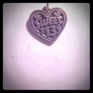 James Avery sweet 13 charm